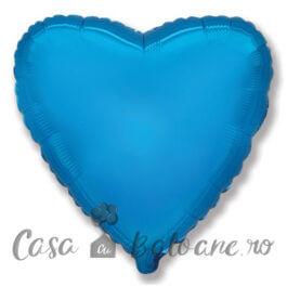 Baloane Folie Inima Albastru 45 cm